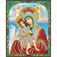 """Схема на ткани для вышивания бисером Икона Божией Матери """"Достойно есть""""(Милующая)"""
