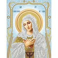 Схема на ткани для вышивания бисером Умиление Пресвятой Богородицы (серебро)