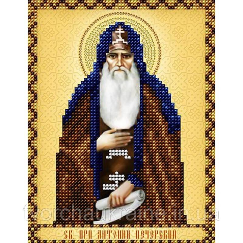 Схема на ткани для вышивания бисером Св. Прп. Антоний Печерский