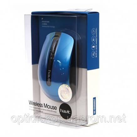 Беспроводная оптическая мышь HAVIT HV-M989GT, Wireless USB, голубая, фото 2