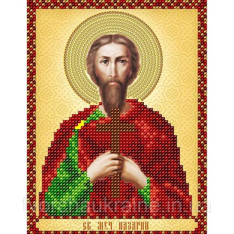 Схема на ткани для вышивания бисером Св. Мученик Назарий