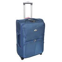 "Большой чемодан на колесах Sanjerly 28"" - синий"