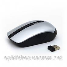 Беспроводная оптическая мышь HAVIT HV-M989GT, Wireless USB, серебристая