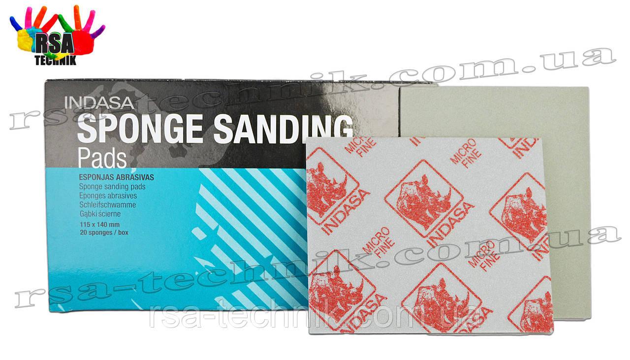 INDASA абразивні листи на основі піноматеріалу P120-180 Medium 115х140 мм Sponge sanding pads
