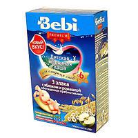 Молочная каша Bebi Premium 3 злака с яблоком и ромашкой, 200 г