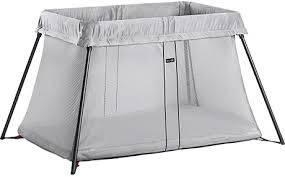 Складной манеж-кровать Babybjorn Light, серебристый