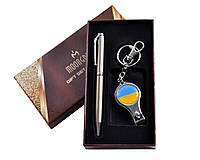 Подарочный набор ручка/брелок-кусачки с символикой Украины