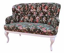 """Классический двухместный диван """"Соло"""" в стиле барокко (135 см)"""