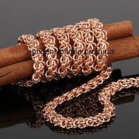 Красивая цепь, сложного плетения, покрытая слоями золота (40882)