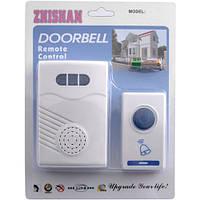 Беспроводной дверной звонок ZHISHAN 506 DC, пластик, радиус до 100 м, 32 мелодии, батарейка 12 V