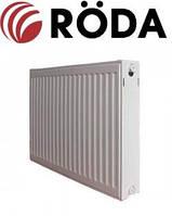 Радіатор Rӧda стальний панельний боковий тип підключення 22 разм 500х400