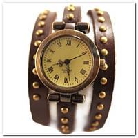Женские часы браслет коричневый ремешок
