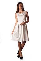 Платье летнее молочного цвета