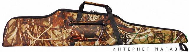 влагозащитный камуфлированный чехол для ружья с оптикой (камуфляж камыш)
