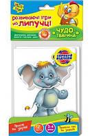 Развивающая игра на липучках Vladi Toys Чудо-животное Слон и Павлин (VT2304-02)