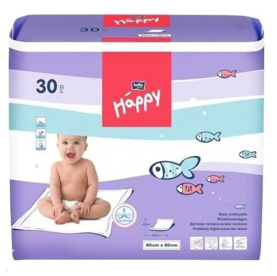 Одноразовые пеленки Bella Baby Happy 60х60 30 шт.