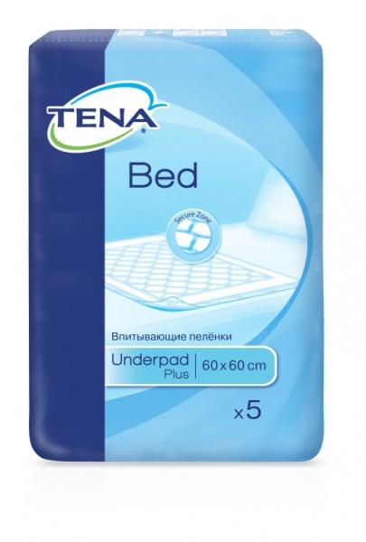 Гигиенические пеленки Tena Bed Plus 60х60 5шт.