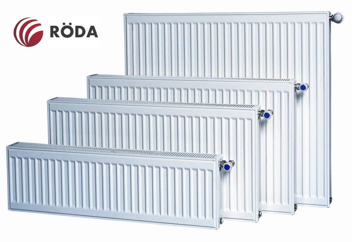 Радіатор Rӧda стальний панельний боковий тип підключення 22 разм 500х800