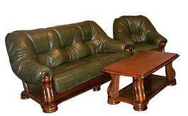 """Раскладной кожаный диван  """"Sanremo"""" в комплекте с креслом"""