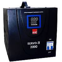 Однофазный сервоприводный стабилизатор напряжения Элтис SERVO-II-SVC-2000VA LED