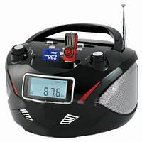 Бумбокс колонка часы MP3 Golon RX 669Q Black , портативная акустика