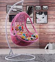 """Подвесное кресло из ротанга """"Komfort Roza""""."""