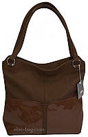 Мягкая сумка с лаковыми вставками