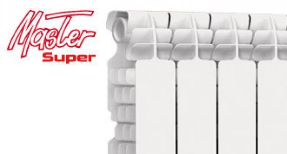 Радиатор алюминиевый отопления (батарея) 350x100 Fondital Master (боковое подключение)