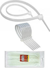 Хомут пластиковый (стяжка) 2.5х100мм. белый / 100шт упаковка