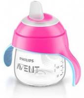 Чашка с носиком Philips Avent SCF751/00, от 6 месяцев, розовая, 200 мл