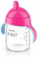 Чашка с носиком Philips Avent SCF755/00, от 18 месяцев, розовая, 340 мл