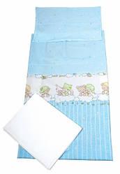 """Комплект постельного белья Tigres """" Baby Bear сlassic"""" голубой, 3 элемента"""