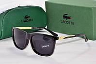Солнцезащитные очки квадратные Lacoste черные, фото 1
