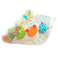 Набор для ванны Baby Team (коврик, 3 игрушки)
