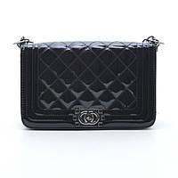 Женская сумка клатч Chanel серебро