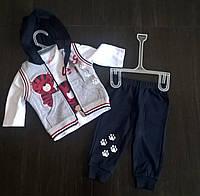 "Костюмчик для мальчика ""Тигра"" (кофта+штаны+жилетка )на 1-3 года"