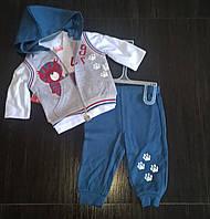 "Костюмчик для мальчика ""Тигра"" (кофта+штаны+жилетка )на 9 мес"