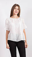 Летняя женская блуза белого цвета из Индии
