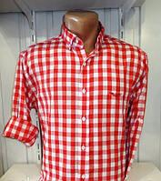 Рубашка мужская красная клетка Турция