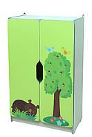 """Стеллаж для игрушек """"Лесные зверушки"""" секция 2"""