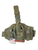 Кобура тактическая набедренная универсальная с системой Molle Max Fuchs Olive Leg-and belt fixing  30713B