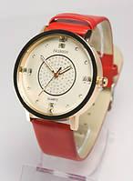 Женские часы красный ремешок