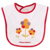 Хлопчато-клеенчатый слюнявчик Canpol Babies с вышивкой, в ассортименте