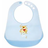 Пластиковый нагрудник Canpol Babies с карманом, в ассортименте