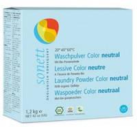Органический стиральный порошок-концентрат для цветных тканей Sonett, нейтральная серия 1,2 кг