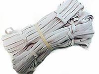 Резинка бельевая полиэфирная,средняя плотность, цвет белый, пр-во Украина 10м в мотке /упаковка 10шт