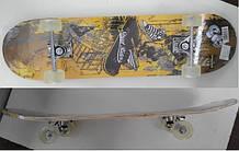 Скейтборд 03438 колеса PU, 79*20 см
