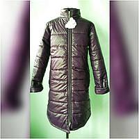 """Удлиненная куртка- пальто  """"Вива"""" цвет темно-синий для девочек от 6до 9 лет( 34-38 размер)"""