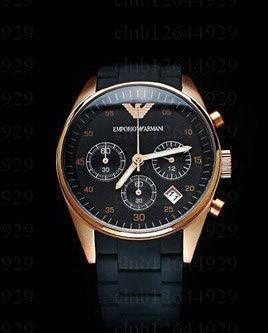 Мужские часы с силиконовым ремешком Armani копия, фото 2