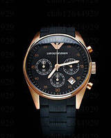 Мужские часы с силиконовым ремешком Armani